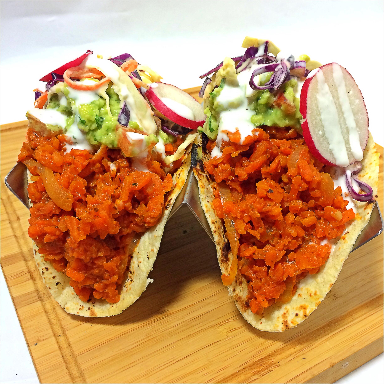 Tacos: Zanahoria Deshebrada; Shredded Carrot